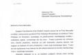 Pismo do Marszałka Województwa Dolnośląskiego, Pana Cezarego Przybylskiego